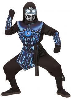 Ninja Kostüm Kinder Samurai Maske leuchtenden Augen 3 Roboterstimmen Karneval KK