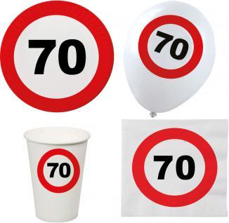 Party Set XL 44 Teile Geburtstag 70 Jahre Verkehrsschild