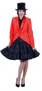 Frack Damen rot Fasching Jacke Luxus Uniform-Jacke Garde Kabarett Karneval KK