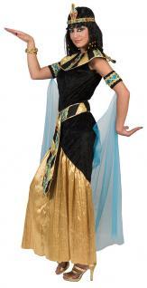 Cleopatra Kostüm Damen Ägyptische Königin Göttin Pharao-nin Kaiserin Fasching KK