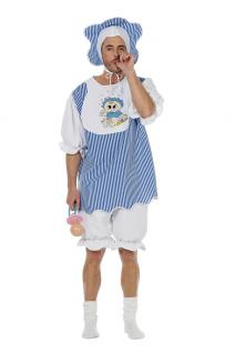 Erwachsenen Baby Kostüm Herren blau Boy Riesenbaby Kostüm Karneval Fasching KK