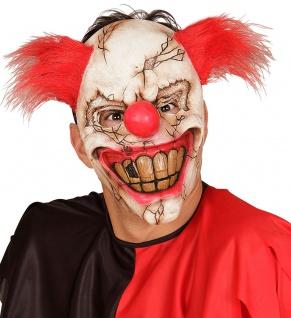Horror-Clown Maske mit Haar Zombie Clown-Maske Halloween-Maske Karneval KK