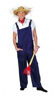 Bauarbeiter Kostüm Erwachsene Latzhose blau Herren Damen Karneval Fasching KK