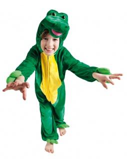 Krokodil Kostüm Kinder Plüsch Overall Schnappi Kinderkostüm Karneval Fasching KK