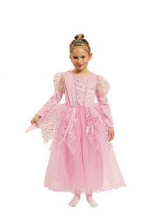 Prinzessin Kleid Mädchen Prinzessin Kostüm rosa mit Sterne Märchen-Prinzessin KK