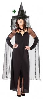 Damen Hexenkostüm Horror böse Hexe Zauberin Verkleidung Dunkle Fee Halloween KK