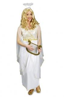 Engels kostüm Engel Kostüm Damen Kleid weiß-gold Weihnachten Damenkostüm KK