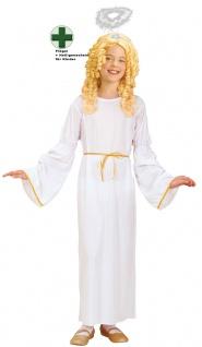 Engelskostüm Mädchen Heiligenschein Stab Engel Kleid Kinder Weihnachtsengel KK
