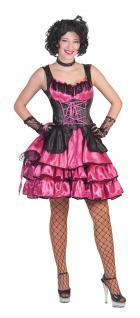 Karneval Klamotten Kostüm Sexy Can Can Dame pink Karneval Western Damenkostüm