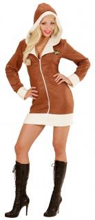 Pilot Kostüm Damen sexy Pilot-Kleid mit Kapuze Damen-Kostüm KK
