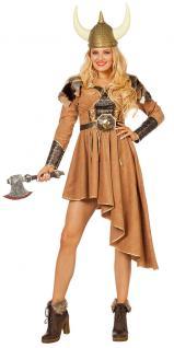 Wikinger Kostüm Damen sexy Nordmann Viking Luxus Karneval Damenkostüm KK