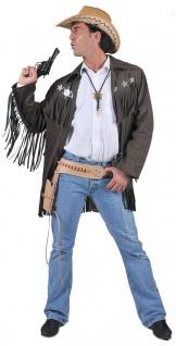 Cowboy Mantel Herren Cowboy Weste braun Fransen Sheriff Sternen Herren-Kostüm KK