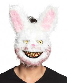 Horror Maske-n Kaninchen mit Blut Rabbit blutige Zombie-Maske Halloween-Maske KK