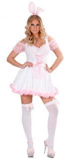 Bunny Kostüm Damen sexy rosa Häschen Hase Tier Damenkostüm Karneval Fasching KK