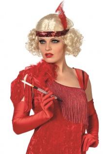 20er 30er Jahre Damen-Perücke blond Charleston Perücke mit Stirnband Fasching KK