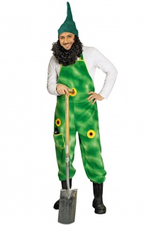 Gärtnerhose grün mit Sonnenblume Latzhose Fasching Karneval Herrenkostüm KK