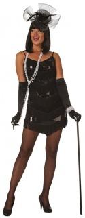 Charleston Kostüm 20er Jahre Flapper Gatsby schwarz Damenkostüm Karneval KK