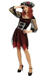 Seeräuber Piratenbraut Kostüm Damen Piratin Piraten Damenkostüm Fasching KK