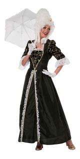 Rokoko Kostüm Damen Barock Damen-Kostüm Kleid lang schwarz Viktorianisch KK