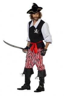 Piratenkostüm Kostüm Herren Freibeuter Seeräuber Karneval Fasching KK