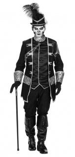 Garde Jacke Frack schwarz silber Uniform-Jacke Hose Gardeoffizier Herren-Kostüm