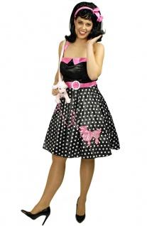 50er Jahre Kleid Rockabilly Kostüm Rock n Roll Pudel Damenkostüm Karneval KK