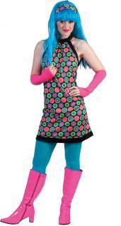 Hippie-Kleid Hippie-kostüm Flower Power 60er 70er Jahre Disco Damen-Kostüm KK