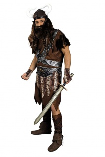 Wikinger-Kostüm Herren Nordmann Viking VikingsStulpen Wikingerhelm Herrenkostüm