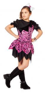 Karneval Klamotten Kostüm Höhlenmädchen pink schwarz Kostüm Karneval Märchen