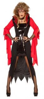Teufel Kostüm Damen Satan Teufelin Devil Halloween-Kostüm Karneval KK