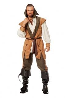 Robin Hood Kostüm Herren König der Diebe Mittelalter Bogenschütze Fasching KK