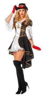 Musketier Kostüm Damen Mittelalter Kleid Komplettkostüm Karneval Fasching KK