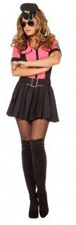 Polizistin Kostüm Polizei Polizist Damenkostüm sexy pink schwarz Uniform KK
