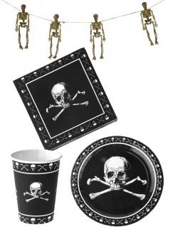 Skelett Horror Party Raum Halloween Deko Tisch Dekoration KK