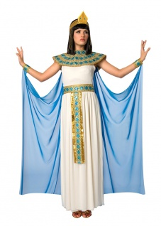 Cleopatra Kostüm Damen Ägypterin Kaiserin Ägypten Kleid Karneval Fasching KK