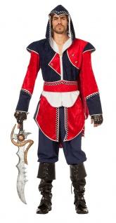 Assassin Kostüm Herren Krieger Tempelritter Mittelalter Herrenkostüm Karneval KK