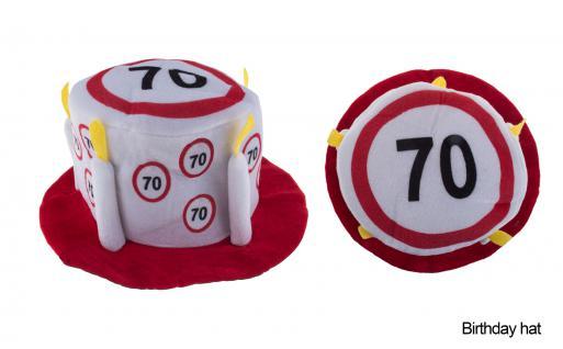 Hut Geburtstag 70 Jahre Verkehrsschild