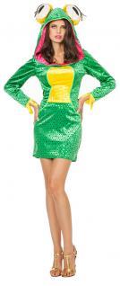 Frosch Kostüm Damen Kleid Froschkönigin Tier Damenkostüm Karneval Fasching KK