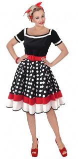 50er Jahre Kostum Damen Rockabilly Kleid Retro 60er Jahre Rock N
