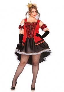 Herzkönigin Kostüm Damen Luxus Königin Alice im Wunderland Herz Dame-n-Kostüm KK