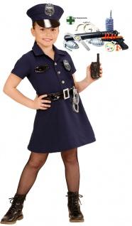 Polizistin Polizei Kostüm Mädchen Kleid Mütze Polizist Set Karneval KK