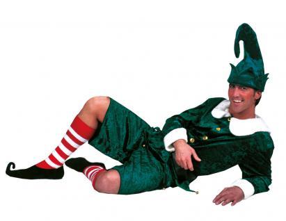 Weihnachtswichtel Kostüm Herren Weihnachtself Weihnachtshelfer Herren-Kostüm KK