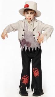 Horror Bräutigam Kostüm Kinder Blut Zombie Jungenkostüm Halloween KK
