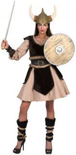 Wikinger Kostüm Damen Vikings Nordmann Barbarin Damenkostüm Fasching Karneval KK