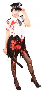 Zombie Polizistin Polizist blutige Polizistin Zombie Dame Halloween Horror KK