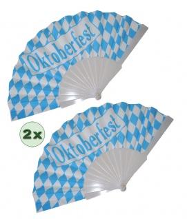 Fächer Oktoberfest blau weiß 2 Stück Karneval KK