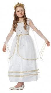 Engel Kostüm Kinder Mädchen weiß mit gold Engelskostüm Kleid Weihnachten KK