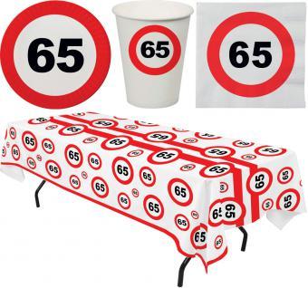 Party Set 33 Teile Geburtstag 65 Jahre Verkehrsschild
