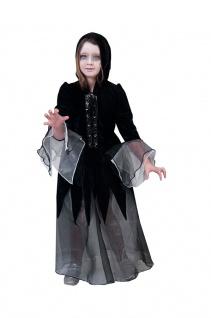 Magier Zauberer Hexenmeister Kostüm Kinder Mädchen Halloween Horror Fasching KK