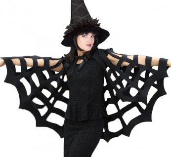 Karneval Klamotten Kostüm Cape Spinne Zubehör Halloween Karneval